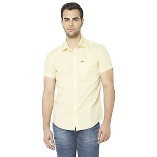 Globus MenS Yellow Colored Shirt
