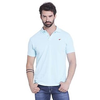 Globus MenS Blue Colored Polo T-Shirt