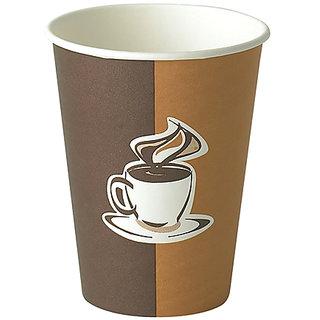 Sagar Group Paper Disposable Cup, 100 ml, 100-Piece, White  Brown