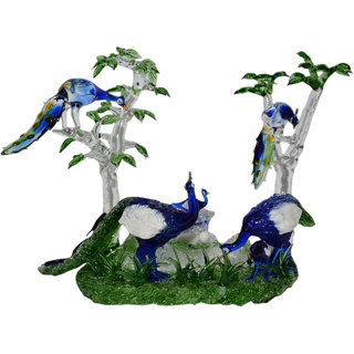 Peacocks In Forest Showpiece