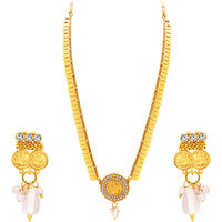 Sukkhi Modish Laxmi Temple Coin Gold Plated Necklace Set For Women