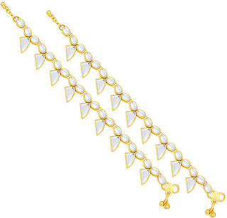 Sukkhi Pleasing Gold Plated Anklet For Women