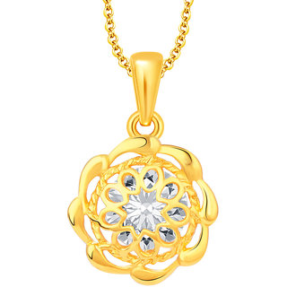 Sukkhi Excellent Solitaire Gold Plated CZ Pendant For Women