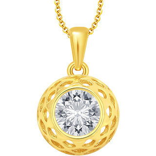 Sukkhi Gold Plated Gold Alloy Pendant With Chain Only for Women