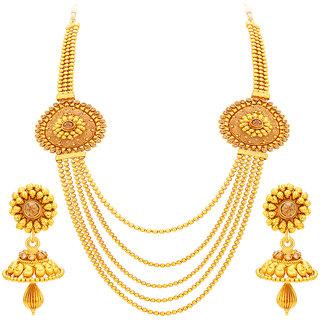Sukkhi Sublime Five String Jalebi Gold Plated Necklace Set For Women