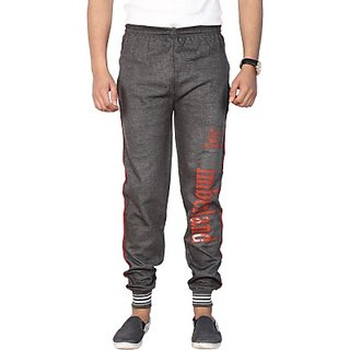 Space Mark Solid Mens Grey Track Pants