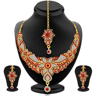 Sukkhi Amazing Gold Plated AD Necklace Set For Women