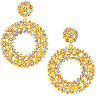 Sukkhi Marquise Gold Plated AD Earring For Women