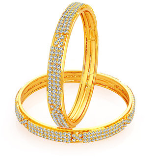 Sukkhi Stunning Gold Plated AD Bangle For Women