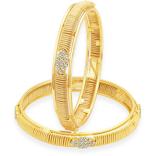 Sukkhi Exquitely Gold Plated AD Bangle For Women