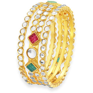 Sukkhi Angelic Gold Plated Kundan Bangle For Women