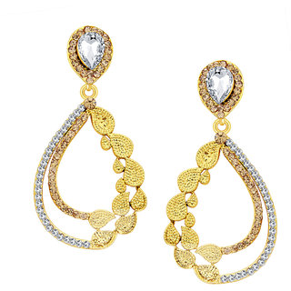 Sukkhi Finely Gold Plated AD Earring For Women