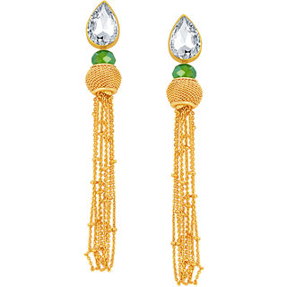 b475eb271 Buy Sukkhi Delightful Solitaire Gold Plated American Diamond Earring For  Women Online - Get 75% Off