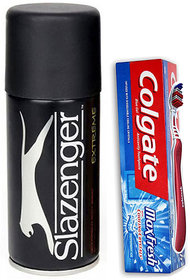 Combo of Slazenger Deodorant And Colgate Max Fresh With Tooth Brush