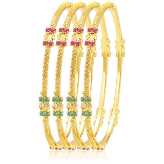 Sukkhi Charming Gold Plated AD Bangle For Women