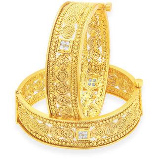 Sukkhi Stylish Jalebi Gold Plated Bangle For Women