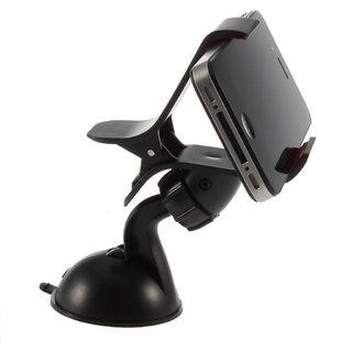 CLASSYTEK Car Mobile Holder Mount Bracket Holder Stand 360 Degree Rotating (Black)