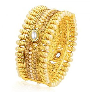 Sukkhi Charming Gold Plated Kundan Kada For Women