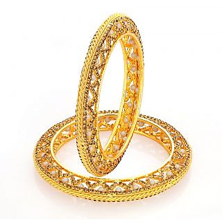 Sukkhi Sublime LCT Stone Gold Plated AD Bangle For Women