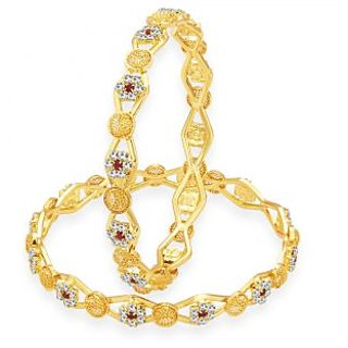 Sukkhi Stylish Gold Plated AD Bangle For Women