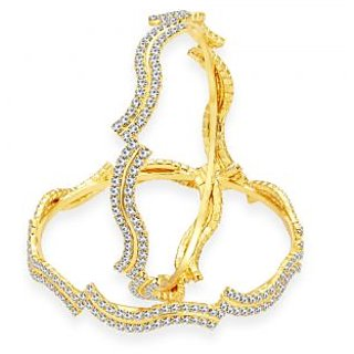 Sukkhi Pleasing Gold Plated AD Bangle For Women