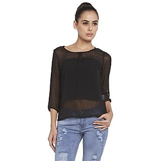 Globus WomenS Black Colored Top