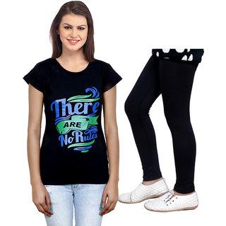Indistar Cotton Girls T-Shirt  Girls Legging Set of - 2 3100971405-IW