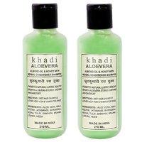 Khadi Aloevera With Conditioner Shampoo 420 ml set of 2