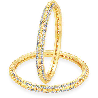 Sukkhi Luxurious Gold Plated AD Bangle For Women
