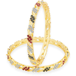 Sukkhi Trendy Gold Plated AD Bangle For Women