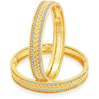 Sukkhi Bewitching Gold Plated AD Bangle For Women