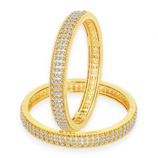 Sukkhi Enchanting Gold Plated AD Bangle For Women