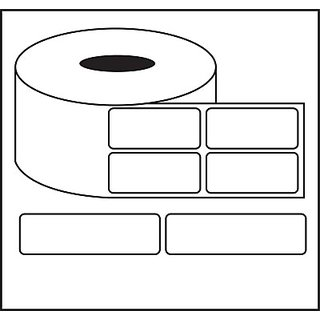 sdtechnologiess Barcode Label 50X50MM Self-adhesive Paper Label(White)