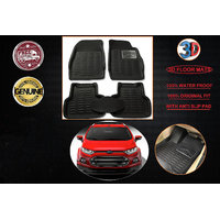 3D FOOT MATS FOR FORD ECOSPORT BLACK COLOUR