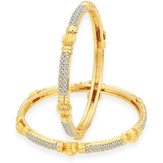 Sukkhi Beguiling Gold Plated AD Bangle For Women