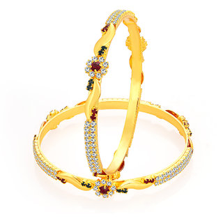 Sukkhi Fabulous Gold Plated AD Bangle For Women