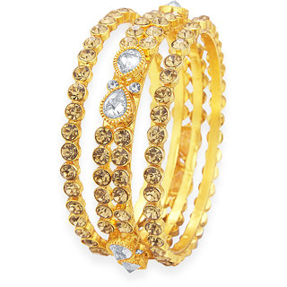 Sukkhi Marvellous LCT Stone Gold Plated AD Bangle For Women