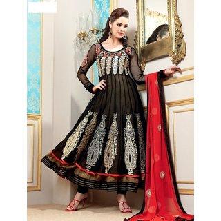 Black Gorgeous Georgette With Net Anarkali Salwar Kameez Suit