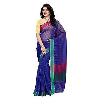 Women Kanchipuram Cotton Art Saree With Tissue Blous
