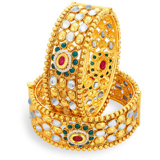 Sukkhi Incredible Gold Plated American Diamond Bangle For Women