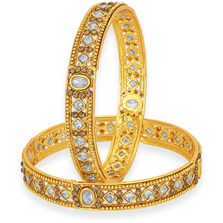 Sukkhi Modish Gold Plated American Diamond Bangle For Women
