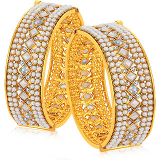 Sukkhi Marquise Gold Plated Bangle For Women