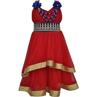 My Lil Princess Girls Layered Red Dress