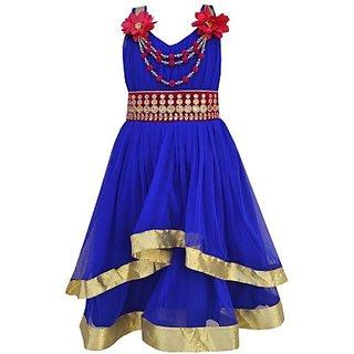 My Lil Princess Girls Layered Blue Dress