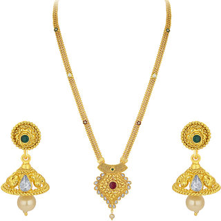 Sukkhi Youthful Gold Plated Necklace Set For Women