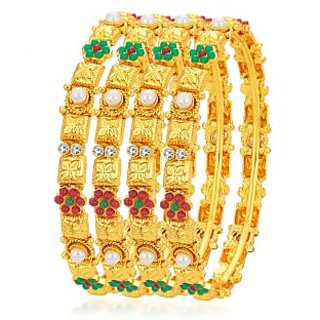 Meia Ethnic Gold Plated Bangle For Women