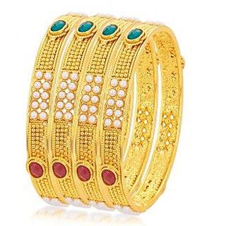 Sukkhi Ravishing Gold Plated Bangle For Women