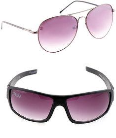 Spartiate Stylish Sunglass With Elligator Nightvision Combo-SPT-SGNightvisionPurple