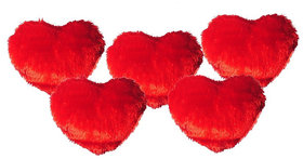 Ech oly 5 red heart shaped pillows