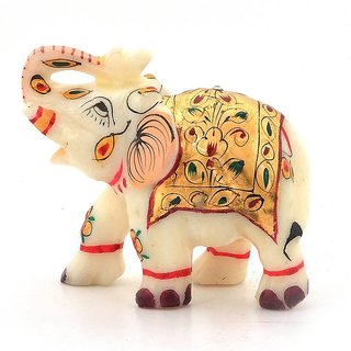 Rajasthani Handmade Elephant Marble Handicraft 2 Inch